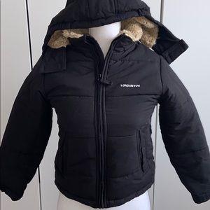 London Fog Boy's Fur-Lined Insulated Winter Jacket